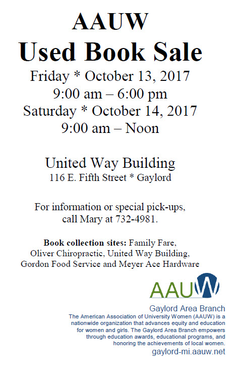 Aauw Gaylord Area Mi Branch