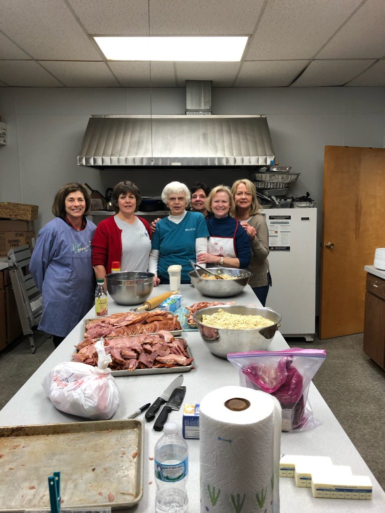 AAUW Members at Community Meal